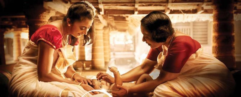 A scene from the recently released video song from the movie Mamangam