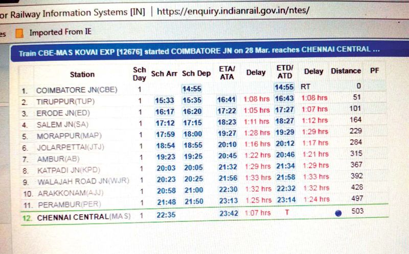 Train Enquiry System Has False Info Passengers