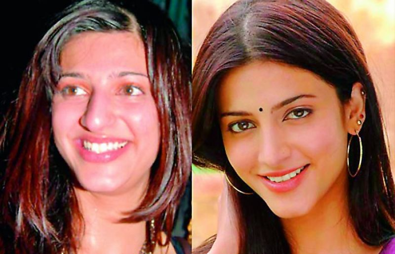 Shruti Haasan (before and after)