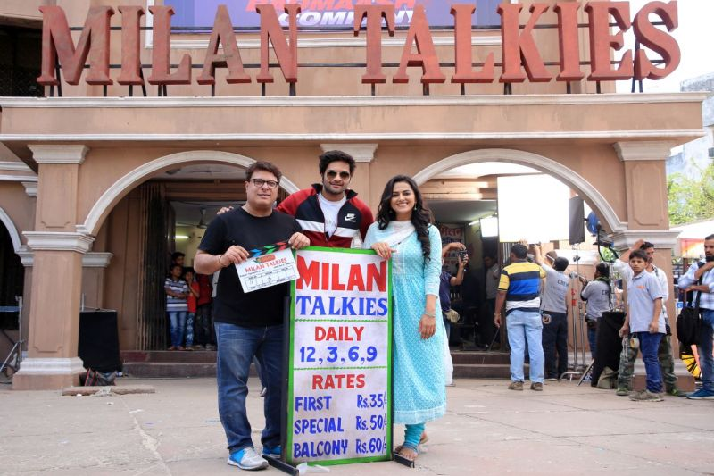 Ali Fazal, Tigmanshu Dhulia and others pose on the first day of shoot.