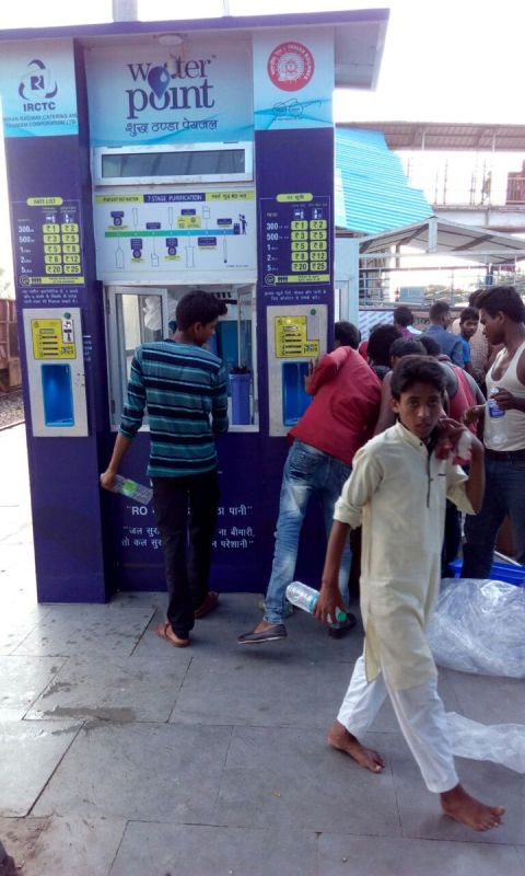 IRCTC plans to put up these Re 1 drinking water kiosks.
