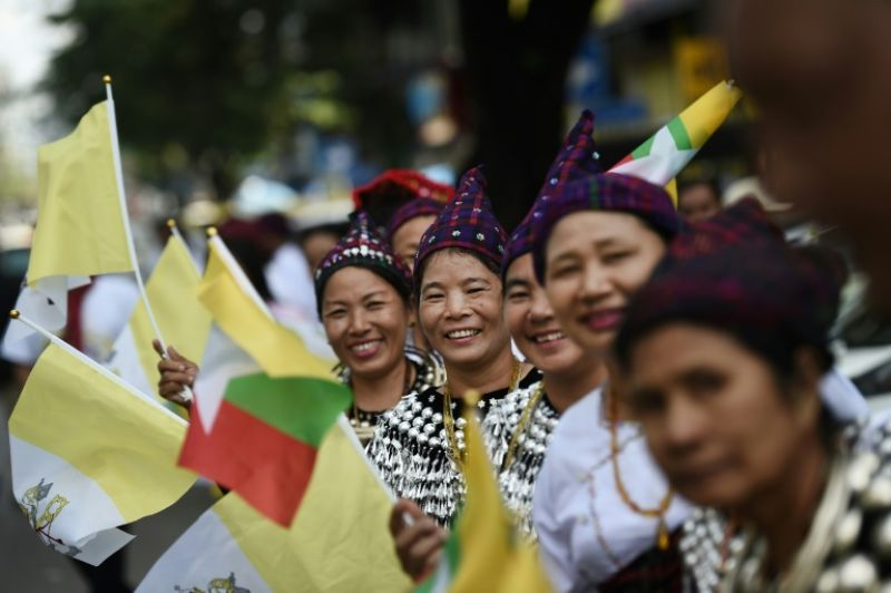 'We are ready to welcome the Pope cheerfully... with pure hearts,' a woman from the northernmost state of Kachin said. (Photo: AFP)