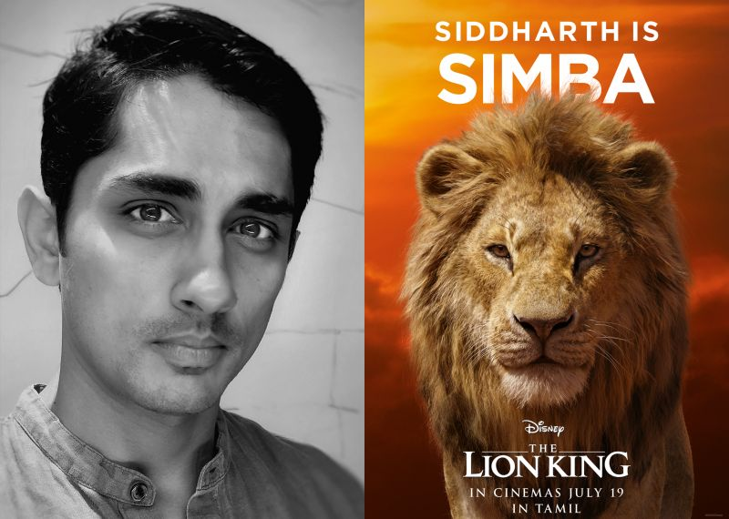 Siddharth to voice Simba in Tamil version of 'The Lion King'