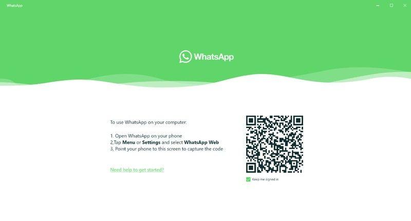 WhatsApp for Windows 10 concept