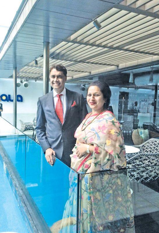 Sethu with his wife Priya Paul