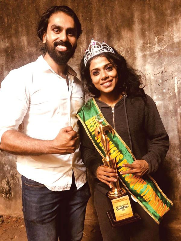 Sreeya with her mentor Anandh Xavier
