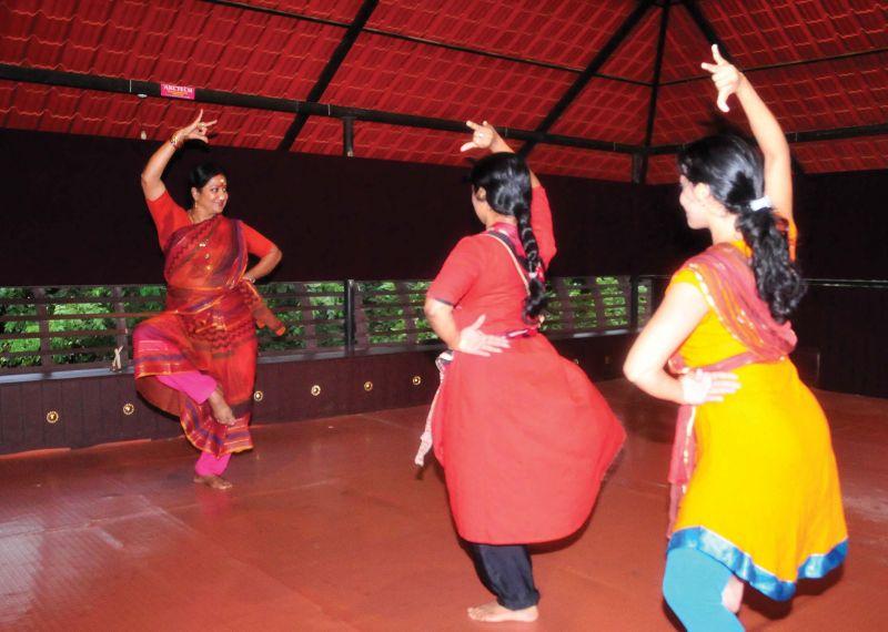 Manju Bhargavi at her workshop organised as part of Soorya Festival