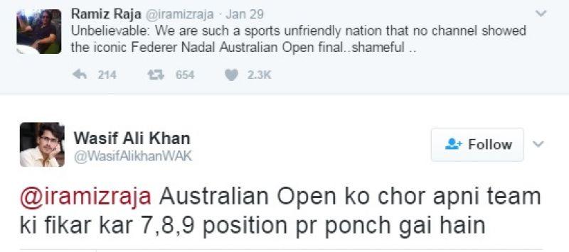 Ramiz Raja trolled, Australian Open final, Roger Federer, Rafael Nadal
