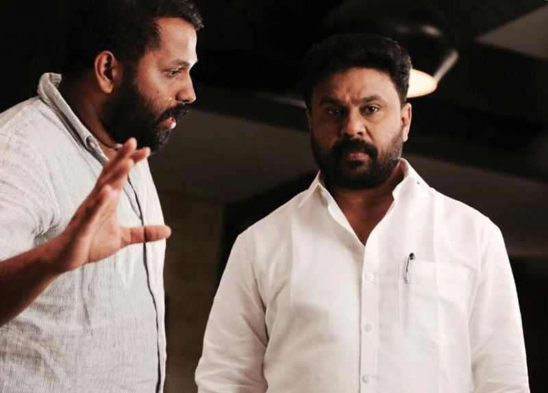 Arun Gopy directing Dileep.