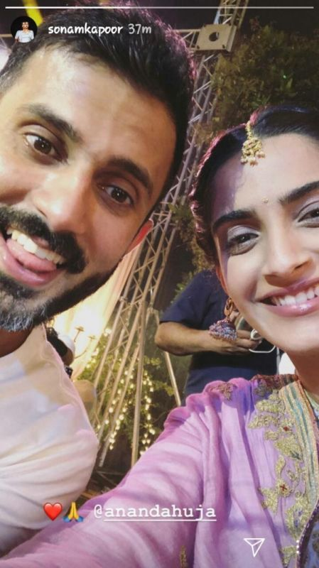 Sonam Kapoor and Anand Ahuja at a wedding. (Photo: Instagram/ Sonam Kapoor)