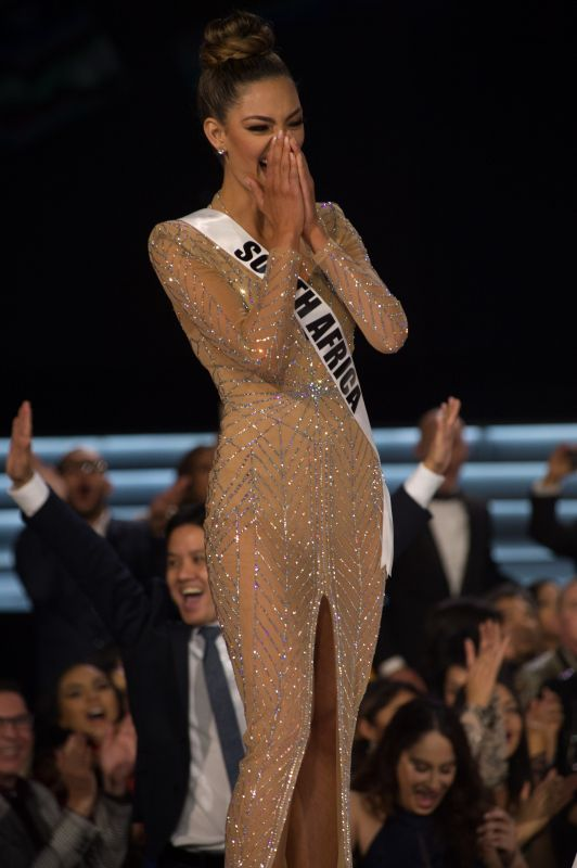 Miss Universe 2017 Demi-Leigh Nel-Peters, th e moment her name is announced as Miss Universe