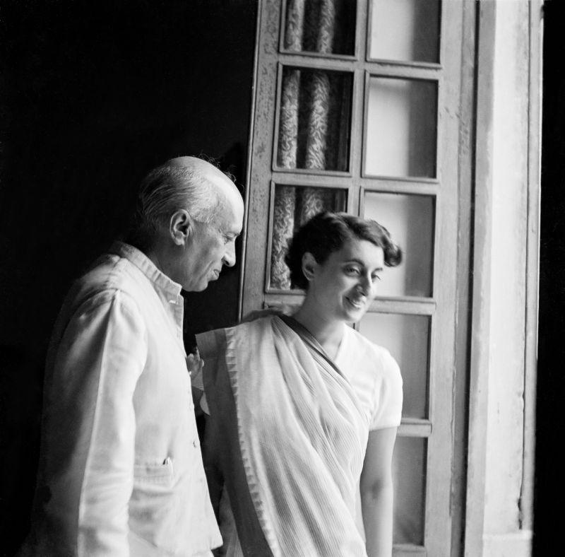Jawaharlal Nehru and Indira Gandhi - a candid moment in 1953 (Photo: Jitendra Arya/ Jitendra Arya Foundation)
