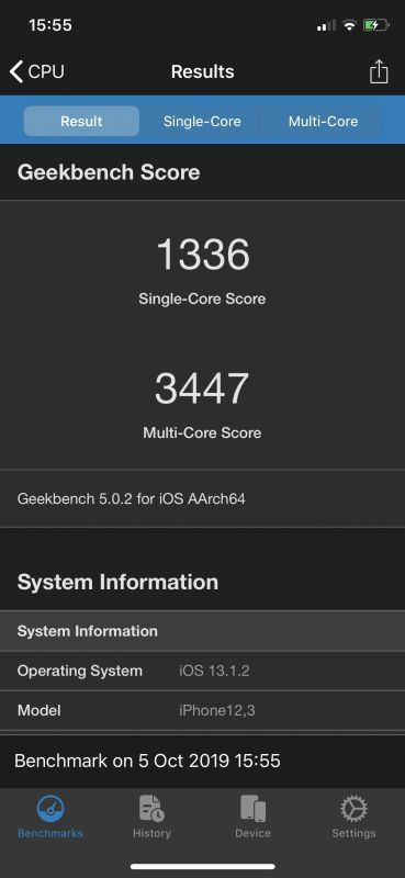 iPhone 11 Pro benchmarks