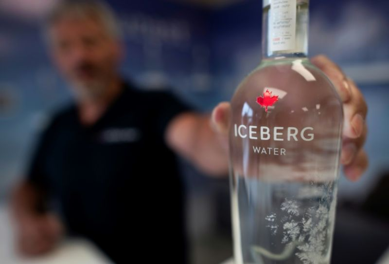 Kerry Chaulk manages a company that bottles iceberg water and sells it to tourists. (Photo: AFP)