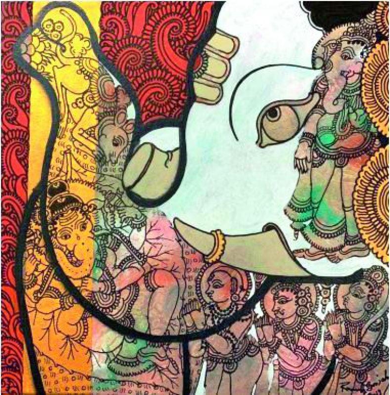 Artist Ramesh Gorjala's take on Divine.