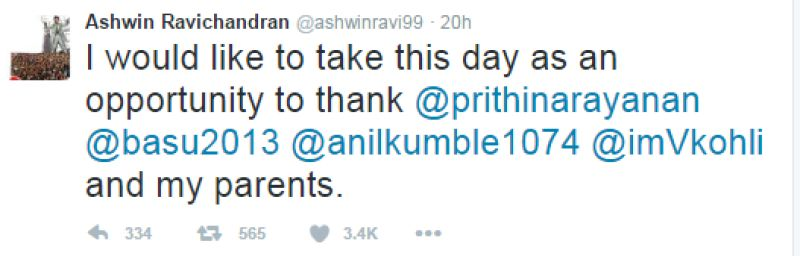 R Ashwin tweet 2
