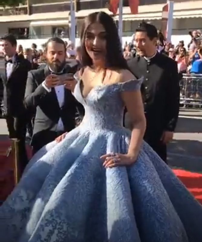 Cannes 2017: Aishwarya sizzles in fairy tale gown, poses with Rihanna