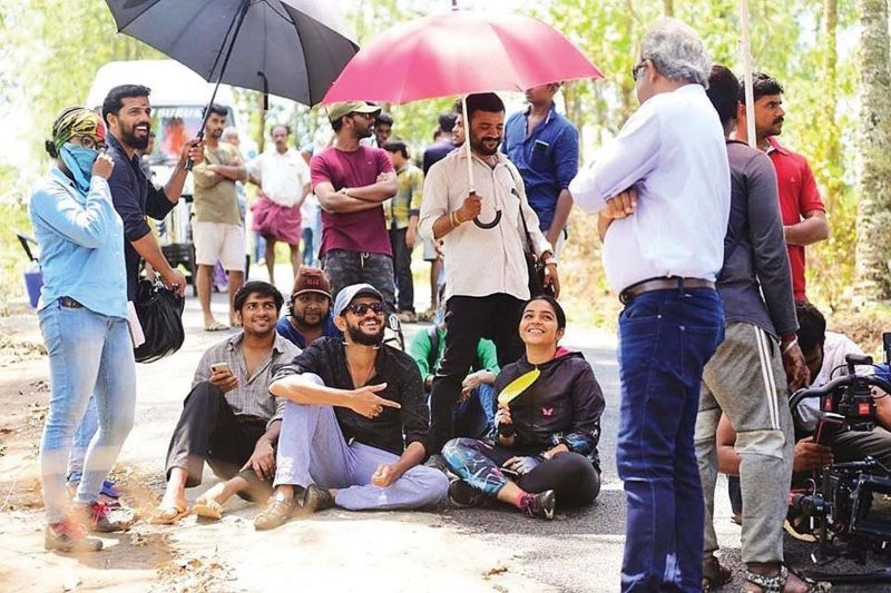 Rajisha shared  this candid photograph from the sets of Finals that on her social media page on the day the movie was released