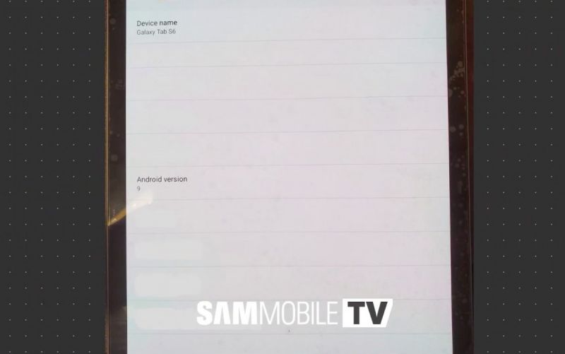 Samsung Galaxy Tab S6 leaked