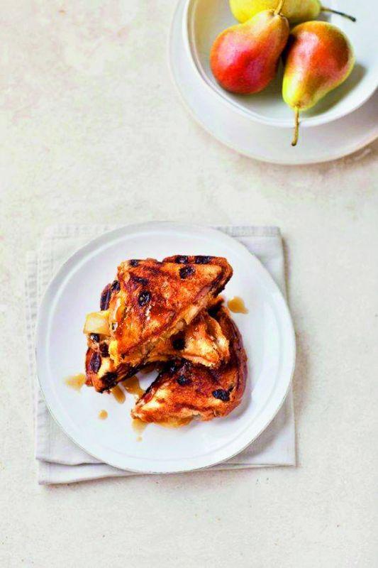Pear Caramel Toasties