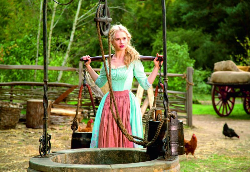 A still from the movie Cinderella (2015). The story of Cinderella is thought to be unsuitable for kids by many, as she didn't raise her voice against domestic abuse by her stepmother and stepsisters.