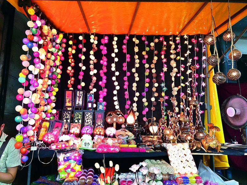 Markets in Bangkok are bright and colourful all night long.