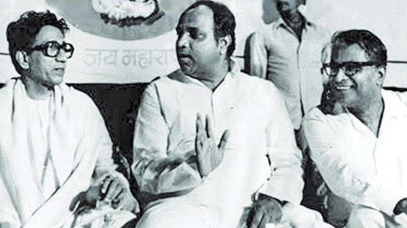 Sharad Pawar, seen with Thackeray and George Fernandes, is known for his rapport with other leaders.