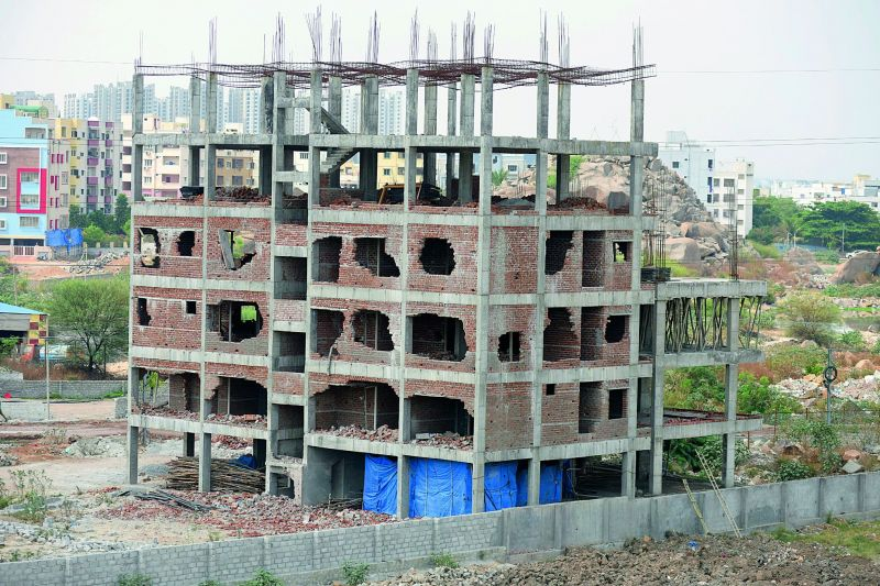 The building as it first stood, before the attempt to demolish it on Monday.