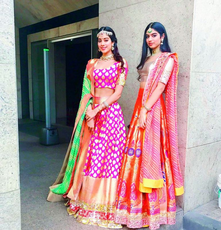 Jahnvi  and Khushi Kapoor are two of Manish Malhotra's most well-known muses. The duo is spotted MM creations at almost every event, crediting the designer on their social media.