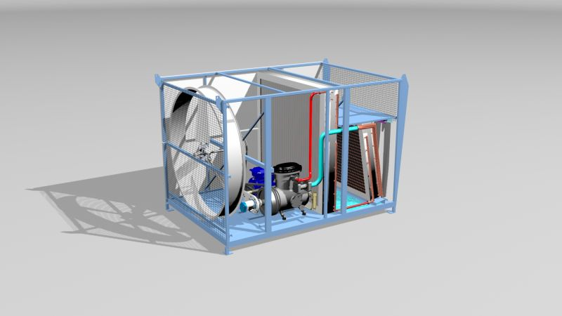 "This ""highly efficient"" conversion process is applied via a patented ""direct-drive"" turbine which uses compressors that generate heat. (Image: Kindle Ventures)"