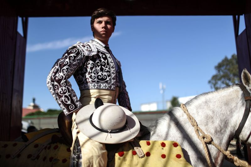 A horseman waits to enter the ring at a sold-out bullfight on April 8, 2018 in Tijuana, Mexico. The controversial sport has been banned in some Mexican states but remains popular in some areas. (Photo: AFP)
