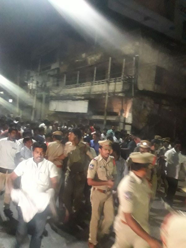 The police took a couple of hours to mobile forces and prevent the activists and almost about 2,000 activists were reportedly detained by the police. (Photo: Deccan Chronicle)