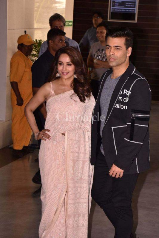 Karan Johar and Madhuri Dixit-Nene at 'Bucket List' trailer launch.