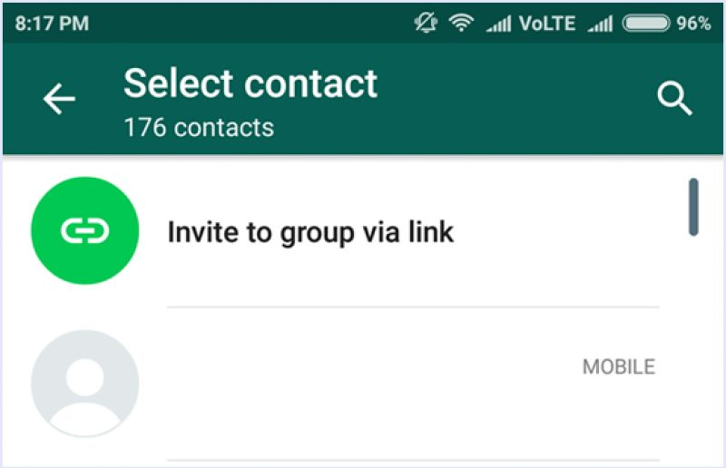WhatsApp group invitation