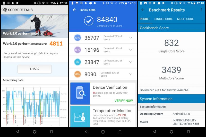 Infinix Note 5 Stylus screenshots