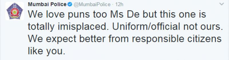 Shobhaa De shared 'funny' post on polls, gets a stern message from Mumbai Police