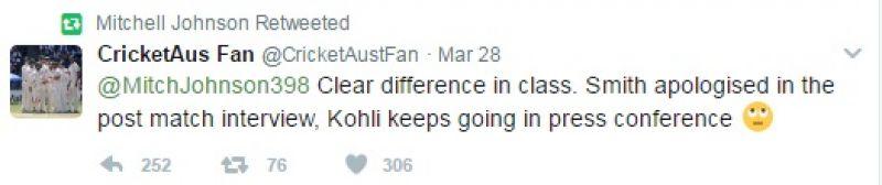 Mitchell Johnson, Virat Kohli, India vs Australia
