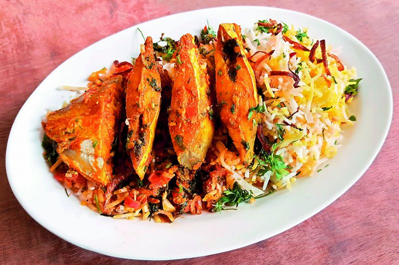 Konkani Muslim Fish Biryani: