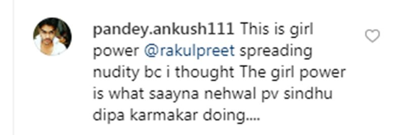 Comments on Rakul Preet Singh's picture. (Photo: Instagram)