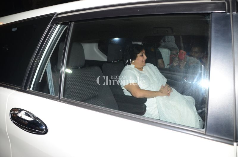Rajinikanth's wife Latha was also spotted.