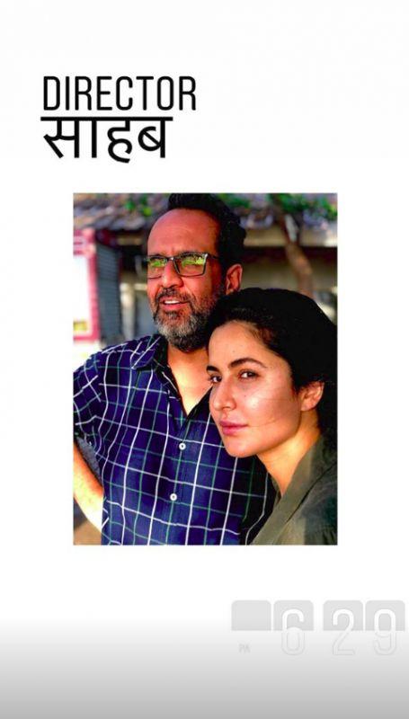 Katrina Kaif and Aanand L. Rai on the sets of 'Zero'.