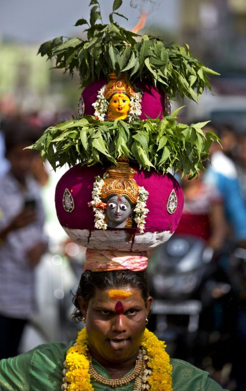 Telangana Bonalu Festival Devotees Thank Goddess Kali For