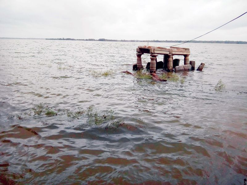 Mantapa submerged in the backwaters of KRS dam.