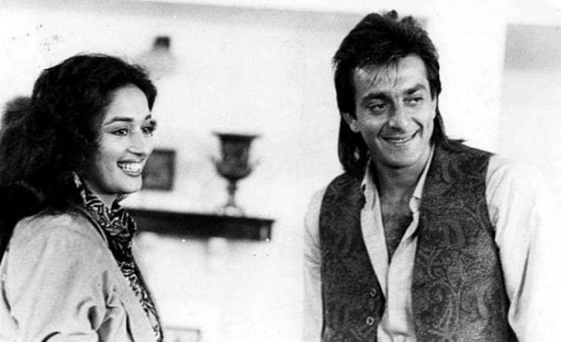 Madhuri Dixit and Sanjay Dutt.