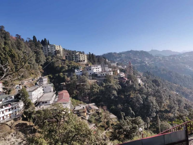 Amrish's view on the hills of Shimla
