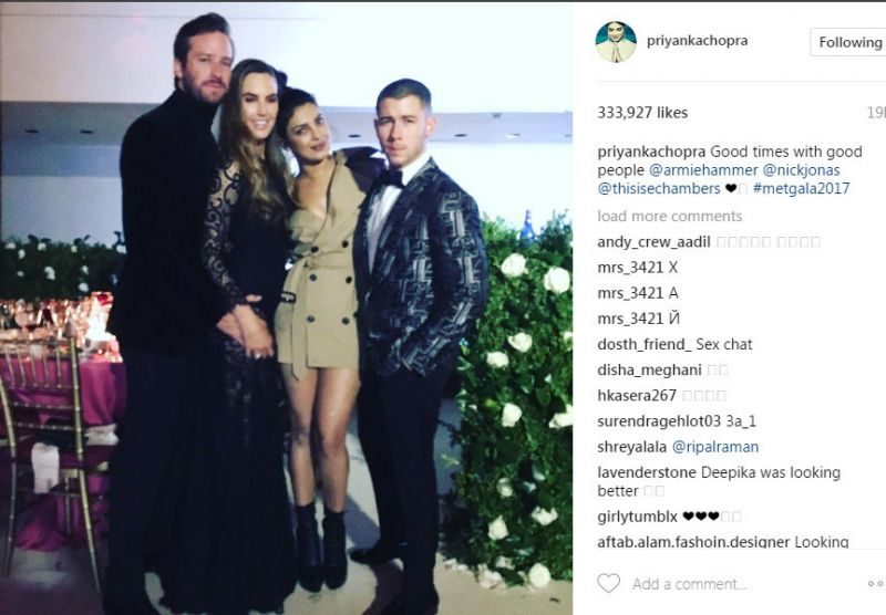 Sexy Priyanka Chopra and Nick Jonas cosy up at Met Gala