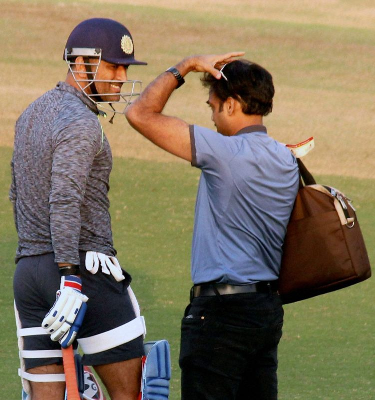 Image result for MS Dhoni- MSK Prasad