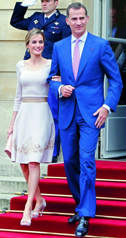 Spain's King Felipe VI and Queen Letizia (a divorcee and former news presenter)