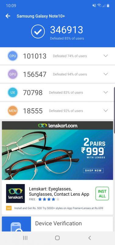 Samsung Galaxy Note 10 Plus benchmarks