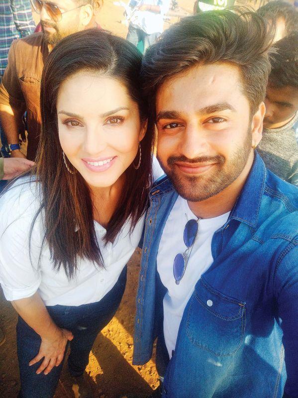 Krissh with Sunny Leone